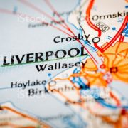 Map Photography: Liverpool City on a Road Map