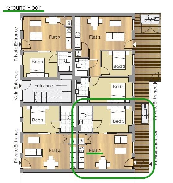 Ground floor (unit 2)